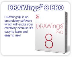 DRAWings 8 Embroidery software